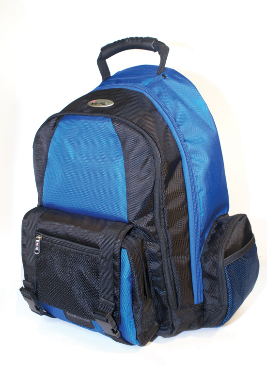 ISAFE COLLEGIATE LAPTOP BACKPACK FEATURES 840 RIPSTOP (Blue)