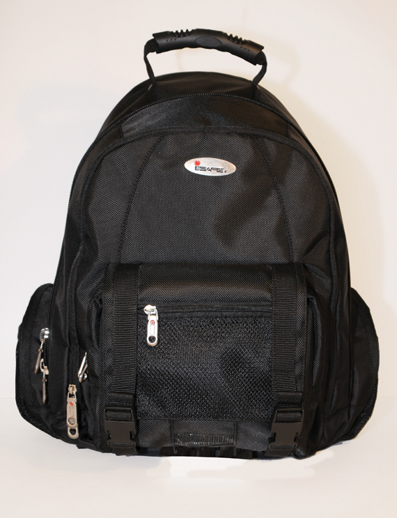 ISAFE COLLEGIATE LAPTOP BACKPACK FEATURES 840 RIPSTOP (Black)