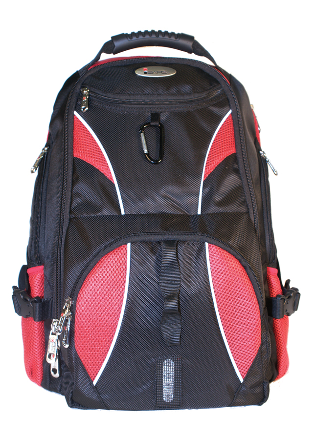 ISAFE ULTIMATE LAPTOP BACKPACK FEATURES 840 RIPSTOP (Red)