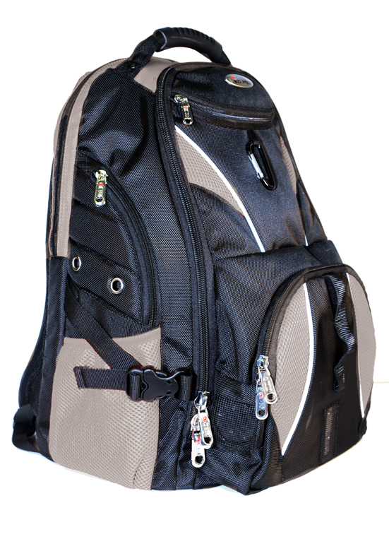 ISAFE ULTIMATE LAPTOP BACKPACK FEATURES 840 RIPSTOP (Grey) [IC ...